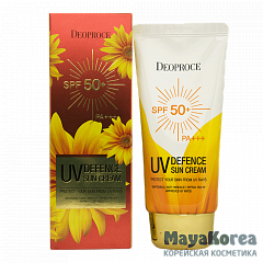 DEOPROCE UV DEFENCE SUN PROTECTOR SPF50+ PA+++ Солнцезащитный крем для лица SPF50+ PA+++