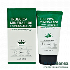 SOME BY MI Truecica Mineral 100 Calming Suncream SPF 50+/PA++++, 50ml Успокаивающий солнцезащитный крем SPF 50+/PA++++, 50мл, SOME BY MI