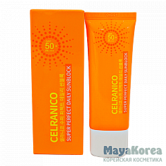 CELRANICO Super Perfect Daily Sunblock SPF50/Pa+++, 40ml Солнцезащитный крем для лица SPF50/Pa+++, 40мл, CELRANICO