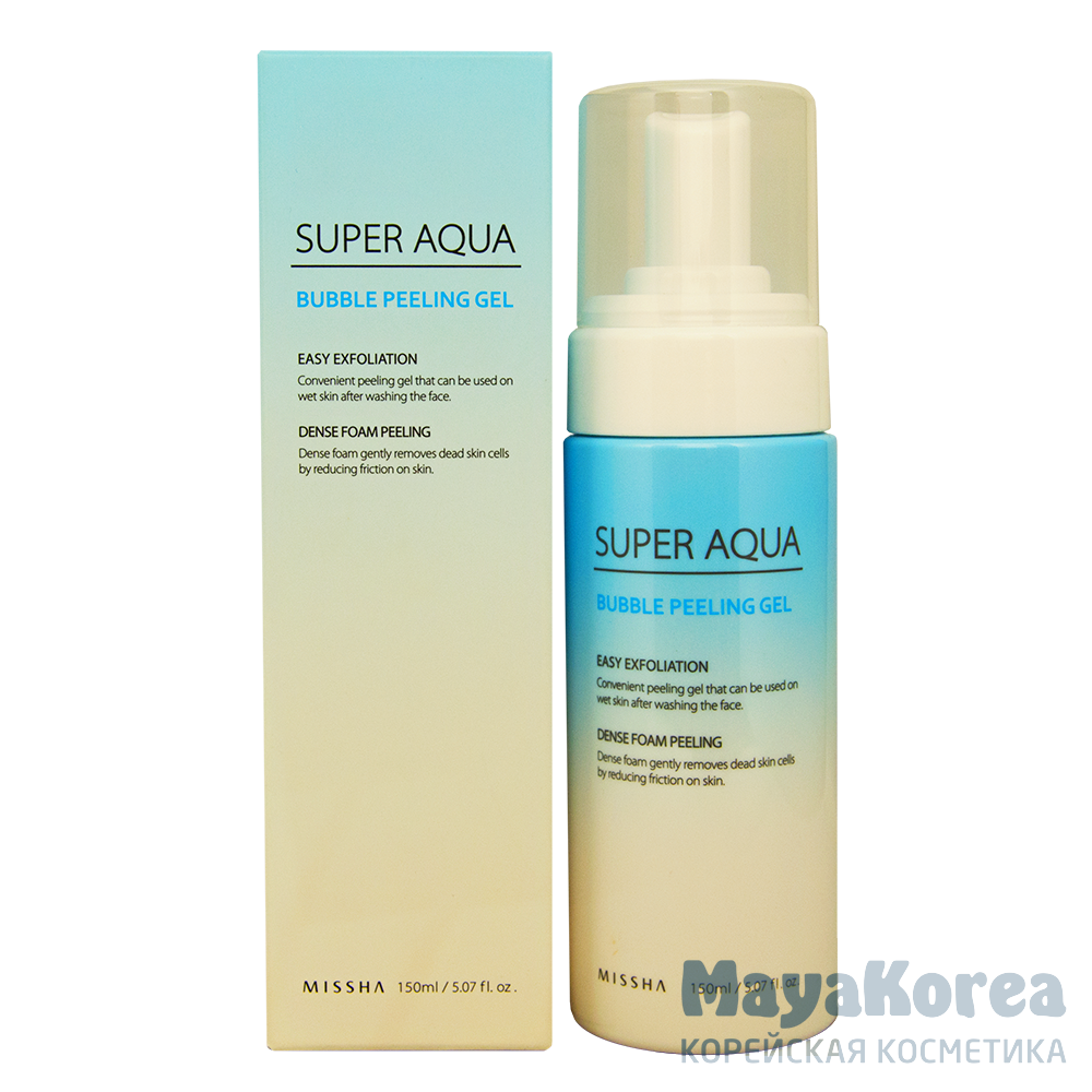 Пилинг-гель для лица MISSHA Super Aqua Bubble Peeling Gel