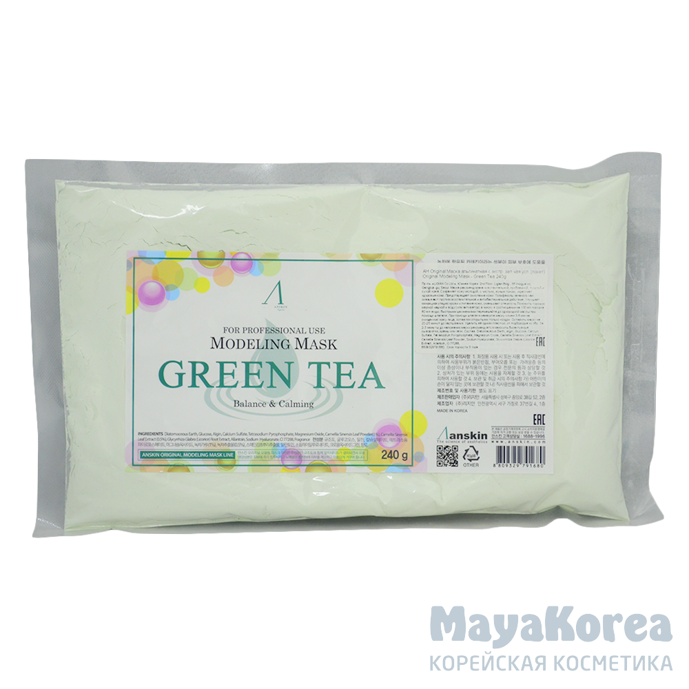 АН Original Маска альгинатная с экстр. зел.чая усп. (пакет) 240гр Green Tea Modeling / Refill 240гр