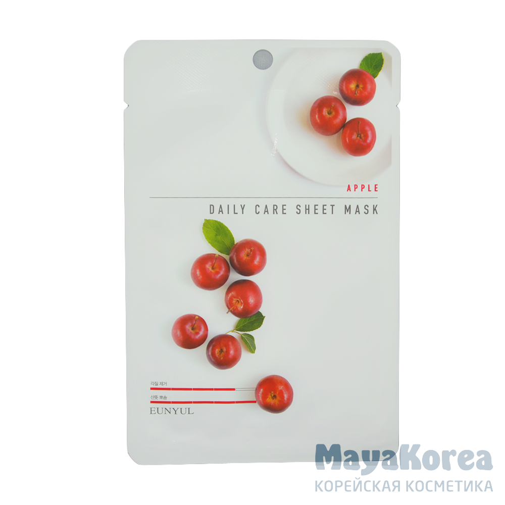 EUNYUL Apple Daily Care Sheet Mask, 22g Тканевая маска для лица с экстрактом яблока, 22г, EUNYUL