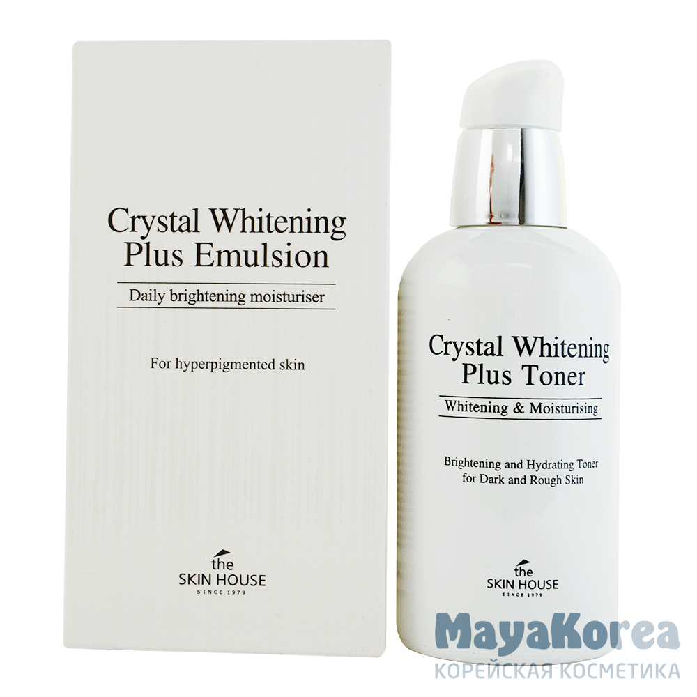 "The Skin House Crystal Whitening Plus Emulsion, 130ml Эмульсия для выравнивания тона лица ""Crystal Whitening"", 130мл, The Skin House"