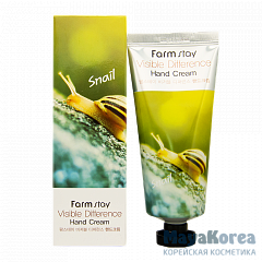 FarmStay Visible Difference Hand Cream Snail, 100g Крем для рук с муцином улитки, 100г, FarmStay