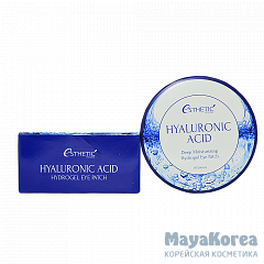 [ESTHETIC HOUSE] Гидрогел. патчи д/ глаз ГИАЛУРОН HYALURONIC ACID HYDROGEL EYE PATCH