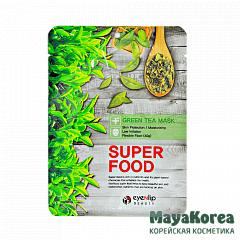 ENL SUPER FOOD Маска для лица тканевая EYENLIP SUPER FOOD GREEN TEA MASK  23мл