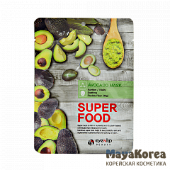ENL SUPER FOOD Маска для лица тканевая EYENLIP SUPER FOOD AVOCADO MASK 23мл