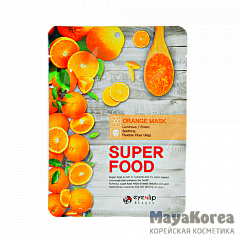 ENL SUPER FOOD Маска для лица тканевая EYENLIP SUPER FOOD ORANGE MASK  23мл