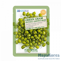 Маска для лица FoodaHolic Green Gram Natural Essence Mask