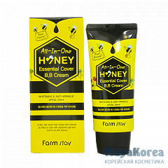 FarmStay All-In-One Honey Essential Cover B.B Cream SPF 30/PA++, 50g ВВ крем с экстрактом меда SPF 30/PA++, 50г, FarmStay