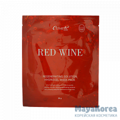 [ESTHETIC HOUSE] Набор/Гидрогел. маска д/лица RED WINE REGENERATING SOLUTION HYDROGEL MASK PACK, 5шт